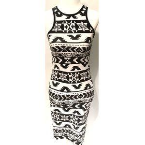 Express Aztec print Razorback midi dress